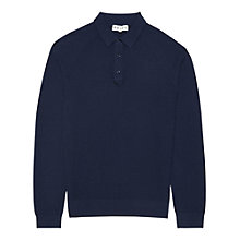 Buy Reiss Winston Knitted Long Sleeve Polo Shirt Online at johnlewis.com