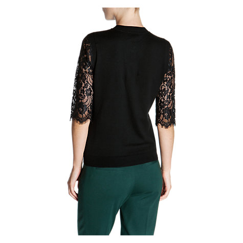Buy Ted Baker Gwuna Lace Detail Cardigan, Black Online at johnlewis.com