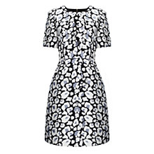 Buy Whistles Floral Leopard Print Dress, Grey Online at johnlewis.com