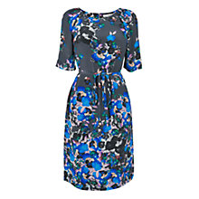 Buy L.K. Bennett Poppy Print Silk Dress, Cobalt Online at johnlewis.com