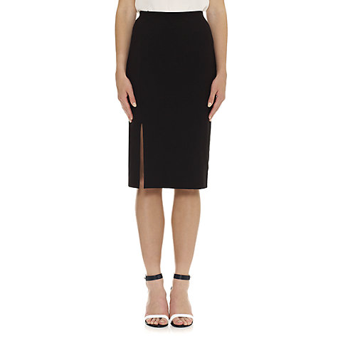 Buy Whistles Split Hem Jersey Tube Skirt, Black Online at johnlewis.com