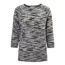 Buy Whistles Joy Textured Jumper, Black Online at johnlewis.com