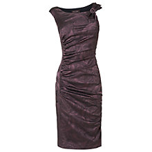 Buy Phase Eight Madison Jacquard Dress, Aubergine Online at johnlewis.com