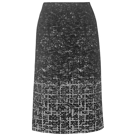 Buy Phase Eight Lisette Tweed Skirt, Charcoal Online at johnlewis.com