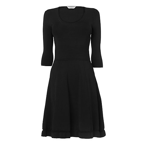 Buy L.K. Bennett Denicia Compact Stretch Dress, Black Online at johnlewis.com