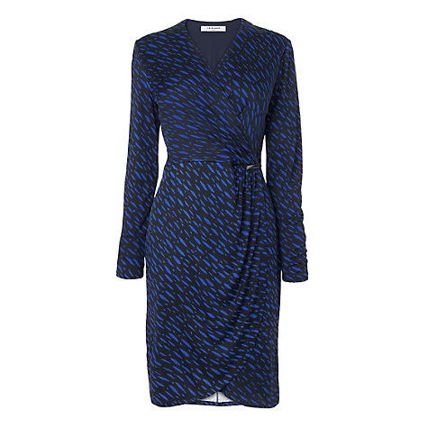 Buy L.K. Bennett Print Jersey Wrap Dress, Cobalt Online at johnlewis.com