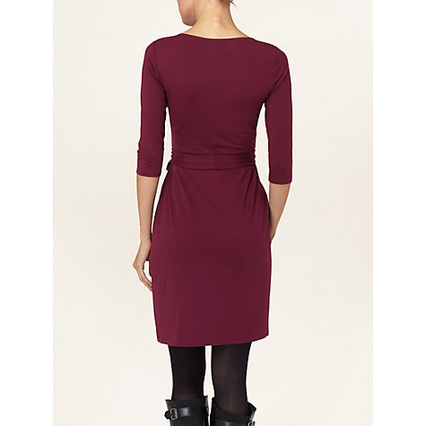 Buy Phase Eight Bordeaux Fixed Wrap Dress, Purple Online at johnlewis.com