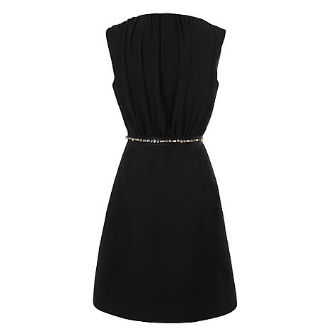 Buy L.K. Bennett Aline Jewellery Dress, Black Online at johnlewis.com