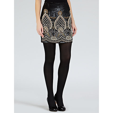 Buy Needle & Thread Adorn Mini Skirt, Black Online at johnlewis.com