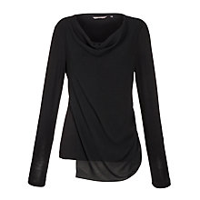 Buy Sandwich Cowl Neck Crepe Front Top, Black Online at johnlewis.com