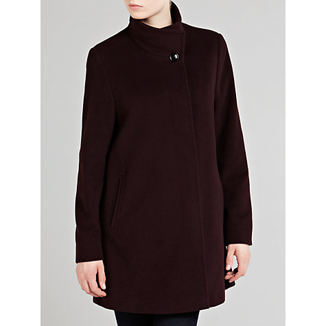 Buy Basler Funnel Neck Coat, Wine Online at johnlewis.com