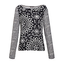 Buy Sandwich Circle Print Blouse, Black Online at johnlewis.com