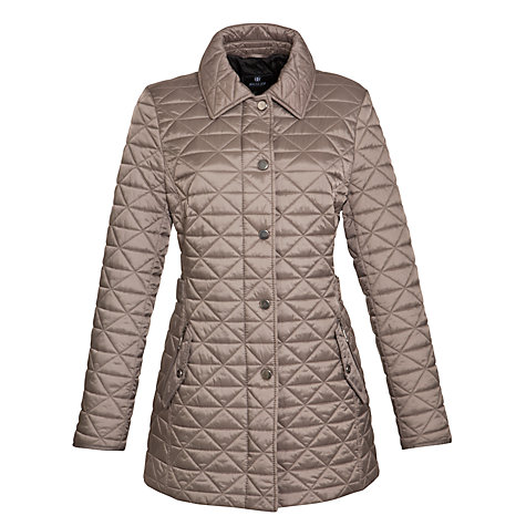 Buy Basler Half Belted Quilt Coat, Taupe Online at johnlewis.com