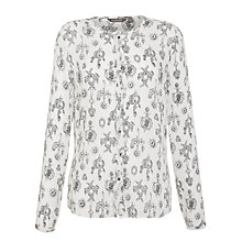 Buy Sandwich Jewelry Print Blouse, Slate Grey Online at johnlewis.com
