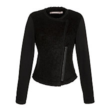 Buy Sandwich Bouclé Biker Jacket, Black Online at johnlewis.com