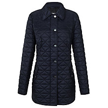 Buy Basler Quilted Half-Belted Coat, Navy Online at johnlewis.com