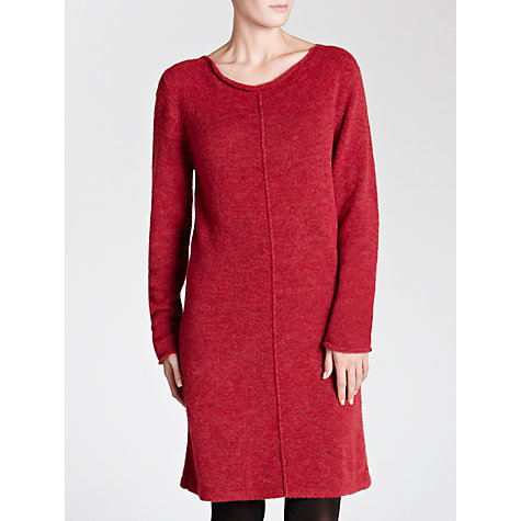 Buy Sandwich Brushed Wool Knitted Dress, Crimson Pink Online at johnlewis.com