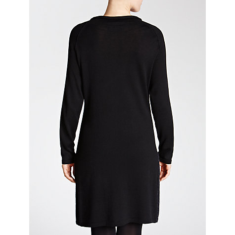 Buy Sandwich Felted Panel Dress, Black Online at johnlewis.com