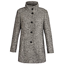 Buy Basler Herringbone Tweed Coat, Black/White Online at johnlewis.com