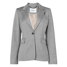 Buy L.K. Bennett Jodia One Button Tailored Jacket, Grey Online at johnlewis.com