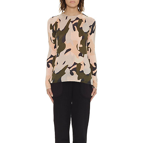 Buy Whistles Camo Print Crew Neck Jumper, Multi Online at johnlewis.com