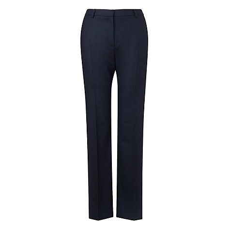Buy L.K. Bennett Parallel Leg Trousers, Navy Online at johnlewis.com