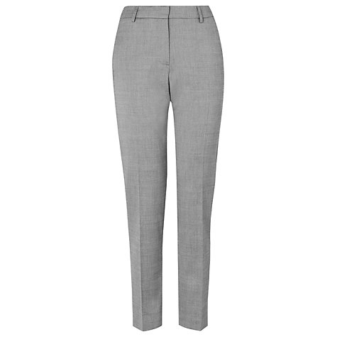 Buy L.K. Bennett Jodia Tapered Leg Trousers, Grey Online at johnlewis.com