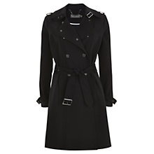Buy Mint Velvet Textured Trench Coat, Black Online at johnlewis.com