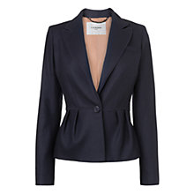 Buy L.K. Bennett Flannel Jacket, Navy Online at johnlewis.com
