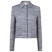 Buy L.K. Bennett Peplum Detail Jacket, Blue Online at johnlewis.com