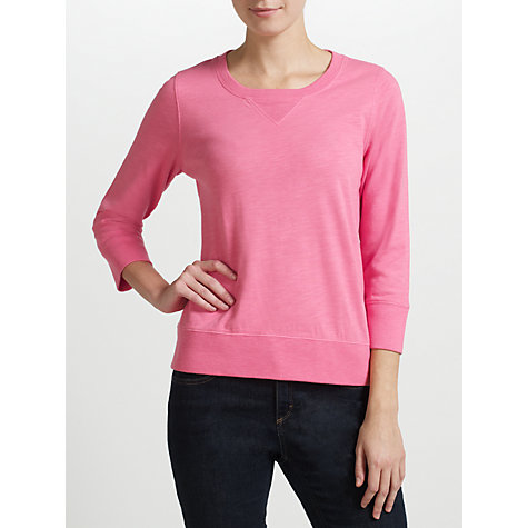 Buy Collection WEEKEND by John Lewis Slub Sweatshirt, Pink Online at johnlewis.com