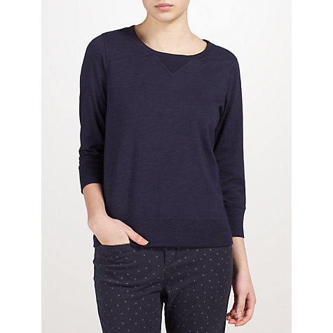 Buy Collection WEEKEND by John Lewis Brush Back Sweatshirt, Navy Online at johnlewis.com