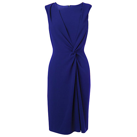 Buy L.K. Bennett Twist Front Crepe Dress, Cobalt Blue Online at johnlewis.com