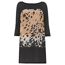 Buy Mint Velvet Animal Print Front Silk Dress, Multi Online at johnlewis.com