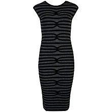 Buy Ted Baker Abela Striped Bodycon Dress, Black Online at johnlewis.com