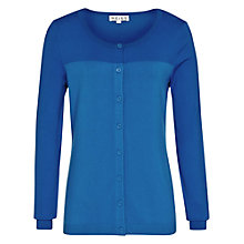 Buy Reiss Crew Neck Cardigan, Cobalt Online at johnlewis.com