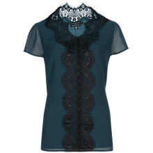 Buy Ted Baker Ennya Lace Top, Dark Green Online at johnlewis.com