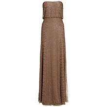 Buy Adrianna Papell Strapless Beaded Dress, Buff Online at johnlewis.com