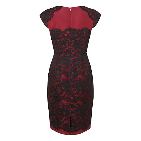 Buy L.K. Bennett Lavine Lace Shift Dress, Bordeaux Online at johnlewis.com