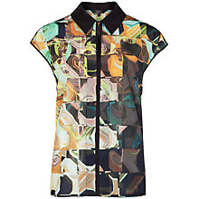 Buy Ted Baker Ortie Retro Square Print Shirt, Black Online at johnlewis.com