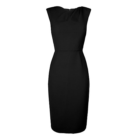 Buy L.K. Bennett Jelica Shoulder Tuck Dress, Black Online at johnlewis.com