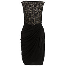Buy Adrianna Papell Lace Wrap Dress, Black Online at johnlewis.com