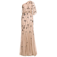 Buy Adrianna Papell One Shoulder Dress, Nude Online at johnlewis.com