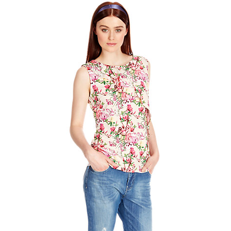 Buy Oasis Bird and Orchid Print Top, Multi Online at johnlewis.com