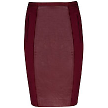 Buy Ted Baker Bebu Leather Panel Skirt Online at johnlewis.com