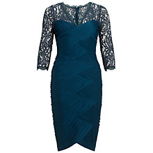 Buy Adrianna Papell Lace Bodice Dress, Hunter Online at johnlewis.com