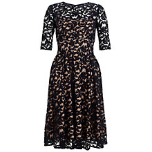 Buy Adrianna Papell 3/4 Sleeve Lace Dress, Navy Online at johnlewis.com