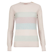 Buy Ted Baker Mollee Striped Sparkle Jumper, Light Pink Online at johnlewis.com