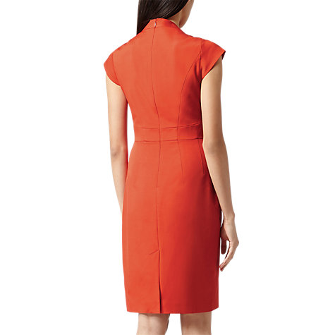 Buy Reiss Structured Tailored Dress, Orange Online at johnlewis.com