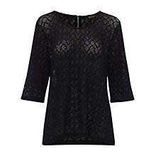 Buy Rise Ria Top, Black Online at johnlewis.com